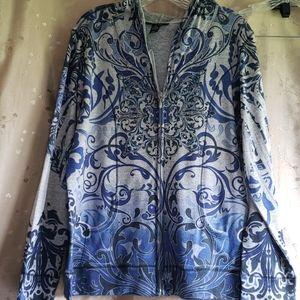 Style & Co zip front hoodie